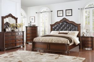 Austin Group Montarosa 6 Piece Set (Headboard, Footboard, Rails, Dresser, Mirror, and Nightstand)