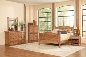 Avalon Capella 6 Piece Set (Headboard, Footboard, Rails, Dresser, Mirror, and Nightstand)