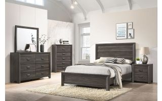 Crown Mark Adelaide 6 Piece Set (Headboard, Footboard, Rails, Dresser, Mirror and Nightstand)