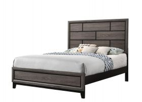 Crown Mark Akerson Bed with Headboard, Footboard, and Rails