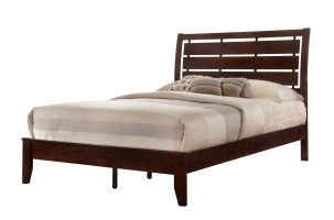 Crown Mark Evan Bed with Headboard, Footboard and Rails