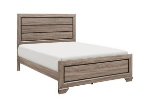 Crown Mark Farrow Bed with Headboard, Footboard, and Rails