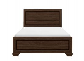 Crown Mark Farrow Chocolate Bed with Headboard, Footboard and Rails (FULL ONLY)