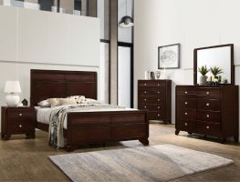 Crown Mark Tamblin 6 Piece Set (Headboard, Footboard, Rails, Dresser, Mirror, and Nightstand)
