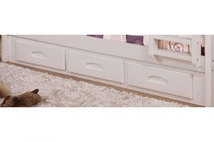 Donco White Twin 3 Underbed Drawers