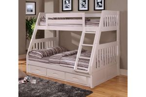 Donco White Mission Bunkbed