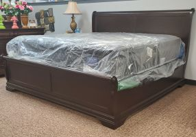 Elements Chateau Low Profile Bed with Headboard, Footboard and Rails