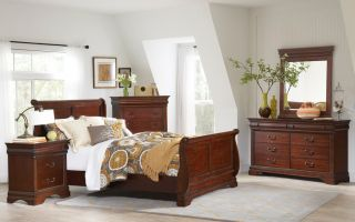 Elements Chateau 6 Piece Set (Headboard, Footboard, Rails, Dresser, Mirror, and Nightstand)
