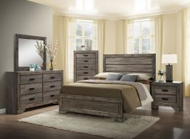 Elements Nathan 6 Piece Set (Headboard, Footboard, Rails, Dresser, Mirror and Nightstand)