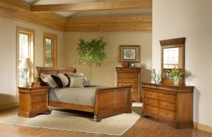 Elements Shenandoah 6 Piece Set (Headboard, Footboard, Rails, Dresser, Mirror, and Nightstand)