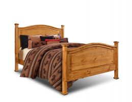 Horizon Homes El Paso Natural Bed with Headboard, Footboard, and Rails