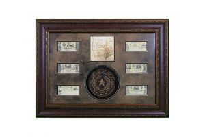 LMT Shadowbox W/Seal, Map & Money
