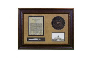 LMT Shadowbox W/Seal, Letter & Feather - 2