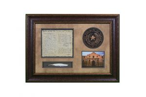 LMT Shadowbox W/Seal, Letter & Feather