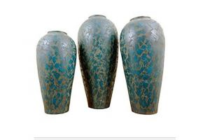 LMT Large Turquoise Barrilito Floor Pot