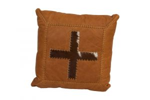 LMT Leather Pillow with Cross