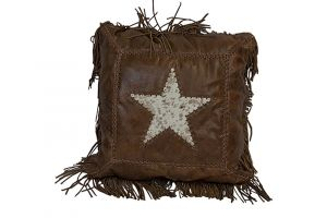 LMT Leather Pillow with Star