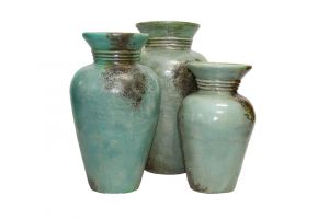 LMT 3 PC Green Romanos Pots