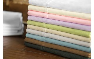 Malouf Brushed Microfiber Blush Sheets