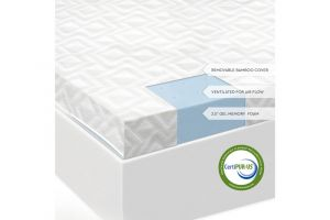 Malouf Isolus Gel Memory Foam Mattress Topper