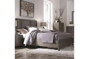 Najarian Belize Ash Bed with Headboard, Footboard, and Rails