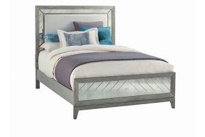Najarian Venezia Grey Bed with Headboard, Footboard, and Rails