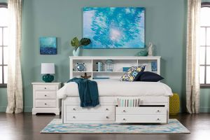New Classic Bayfront Lounge 6 Piece Set (Headboard, Footboard, Rails, Dresser, Mirror, and Nightstand)