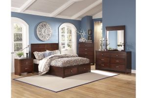 New Classic Kensington Kids Twin 6 Piece Set (Headboard, Footboard, Rails, Dresser, Mirror, and Nightstand)