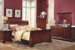 New Classic Versaille Lounge 5 Piece Set (Headboard, Footboard, Dresser, Mirror, and Nightstand)