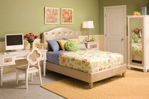 Najarian Paris Bed with Headboard, Footboard, and Rails