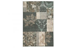 Powell Linon Elegance 8' x 10' Marble Pattern Rug in Grey
