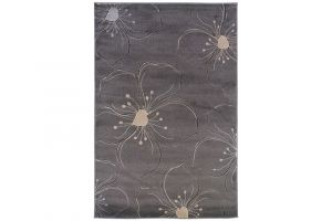 Powell Linon Milan Collection Grey and Ivory 5' x 8' Area Rug