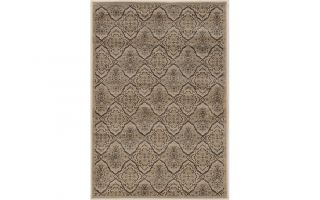 "Powell Linon Jewell Collection Vintage Trellis Beige and Blue 5'x 7'6"" Area Rug"