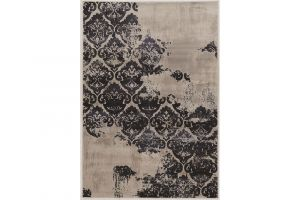 "Powell Linon Jewell Collection Vintage Blue Clara 5' x 7'6"" Area Rug"