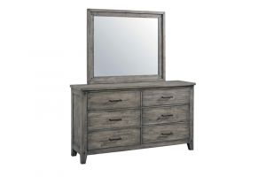 Standard Nelson Grey Dresser Mirror Set