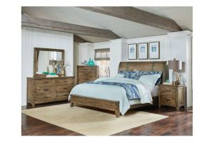 Standard Nelson Full 6 Piece Set (Headboard, Footboard, Rails, Dresser, Mirror, and Nightstand)